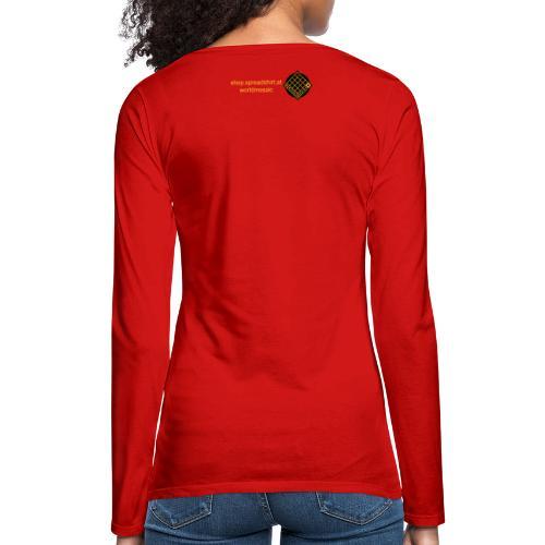 TIAN GREEN Welt Mosaik Shirt - Logo 2020 - Frauen Premium Langarmshirt