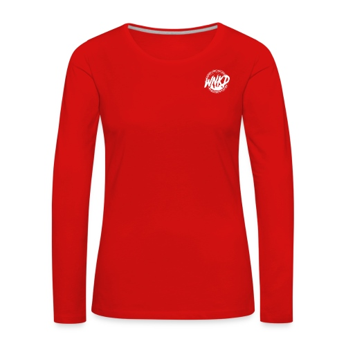 WNKD WEAR LOGOTYP WHITE - Koszulka damska Premium z długim rękawem