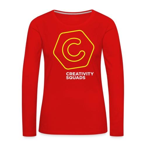 CS Hoodie Pink Unisex - Naisten premium pitkähihainen t-paita