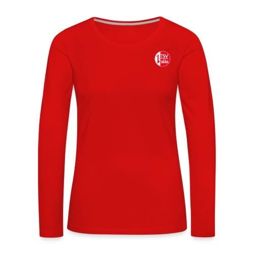 Rand um Logo - Frauen Premium Langarmshirt