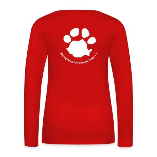 pfote logo - Frauen Premium Langarmshirt