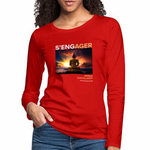 1 Achat = 1 Don à l'association Coeur de forêt - T-shirt manches longues Premium Femme