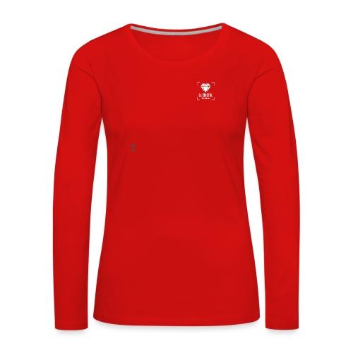 Logo Cristal Club Gris - T-shirt manches longues Premium Femme
