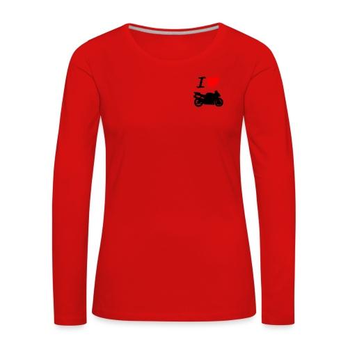 I LOVE MOTO - T-shirt manches longues Premium Femme