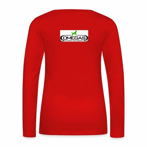 Logo glücklich R meinesta - Frauen Premium Langarmshirt