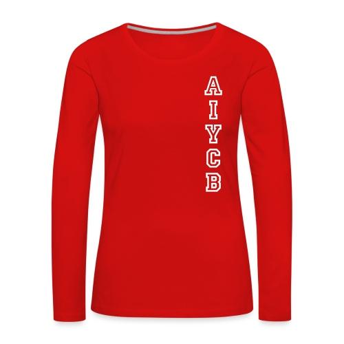 AIYCB_hochblauweissaufrot - Frauen Premium Langarmshirt