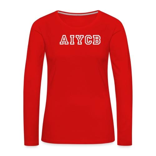 Blau_AIYCB-05 - Frauen Premium Langarmshirt