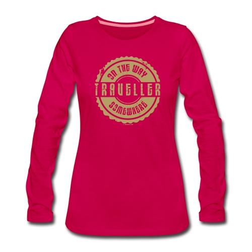 FP 13TR-03 ON THE WAY SOMEWHERE-TRAVELLER PRODUCTS - Naisten premium pitkähihainen t-paita