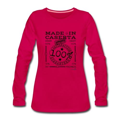 1.02 Made in Caserta - Maglietta Premium a manica lunga da donna