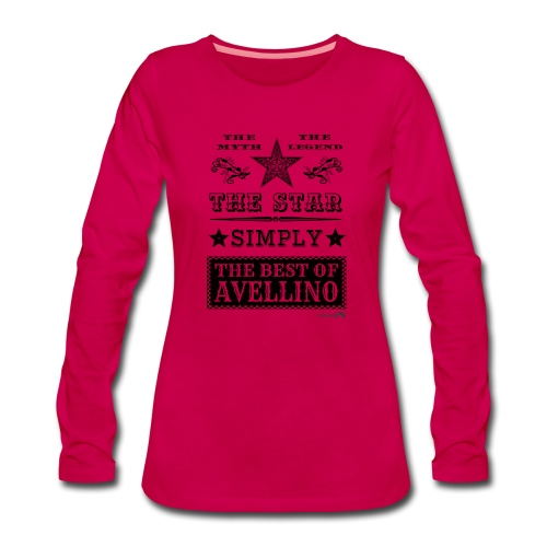 1,03 The Star Legend Avellino - Maglietta Premium a manica lunga da donna