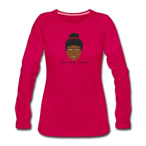 jesus loves myselfie - Frauen Premium Langarmshirt