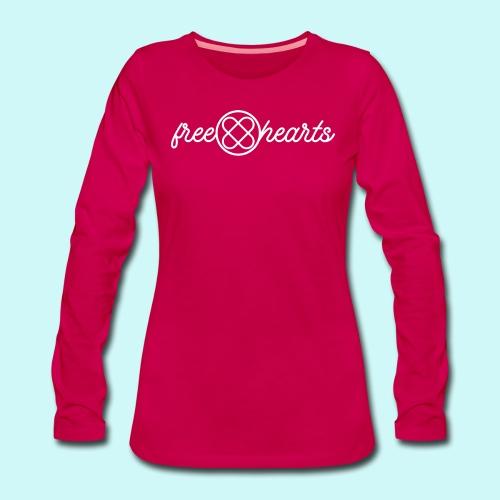 freehearts white logo - Frauen Premium Langarmshirt