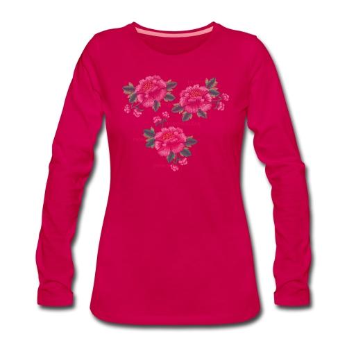 Peony - Dam - Women's Premium Longsleeve Shirt