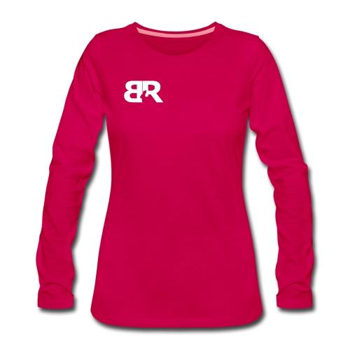 BR LOgo voor op truien png - Vrouwen Premium shirt met lange mouwen