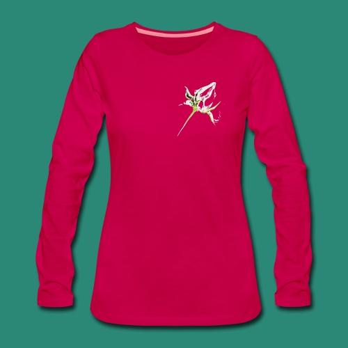 weisse Rosenknospe - Frauen Premium Langarmshirt