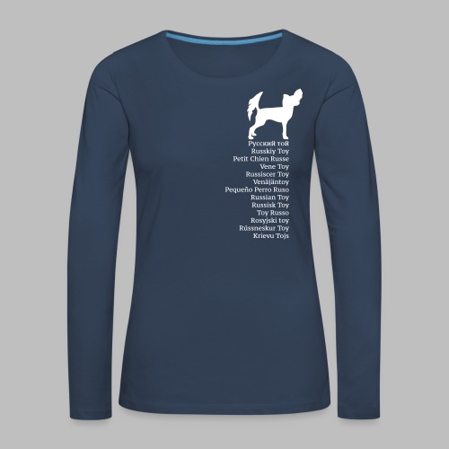 koirat kieletpk - Naisten premium pitkähihainen t-paita