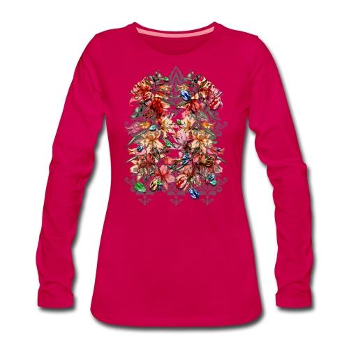barocco - Maglietta Premium a manica lunga da donna