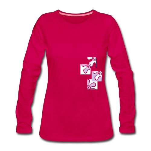 decoflo - Maglietta Premium a manica lunga da donna