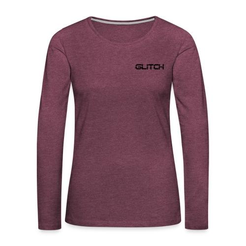 LOGO GLITCH - Maglietta Premium a manica lunga da donna