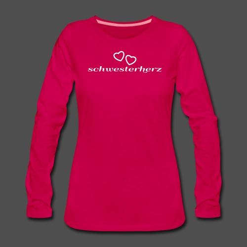 siostra serce - Koszulka damska Premium z długim rękawem