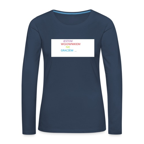 kim jesteś - Koszulka damska Premium z długim rękawem