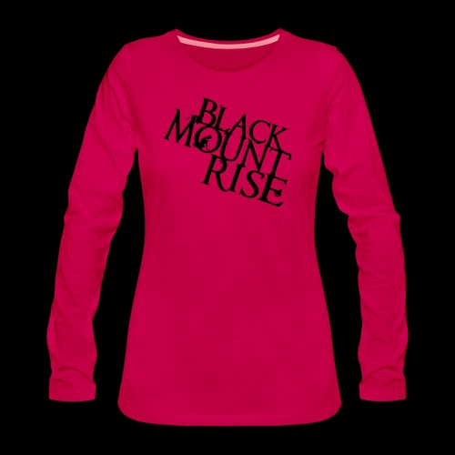 BMR Schriftzug big black - Frauen Premium Langarmshirt