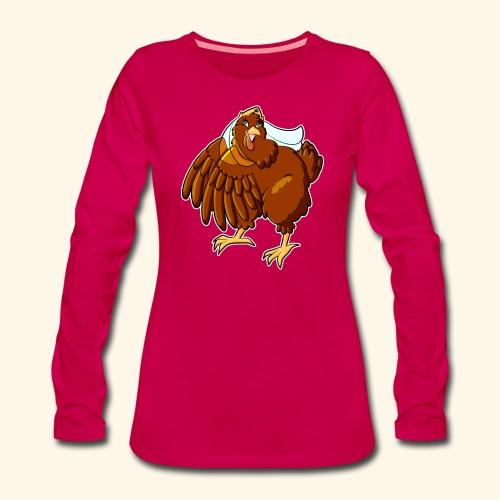 Verrücktes Huhn - Frauen Premium Langarmshirt