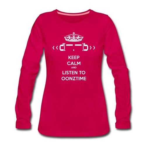 Keep Calm png - Women's Premium Longsleeve Shirt
