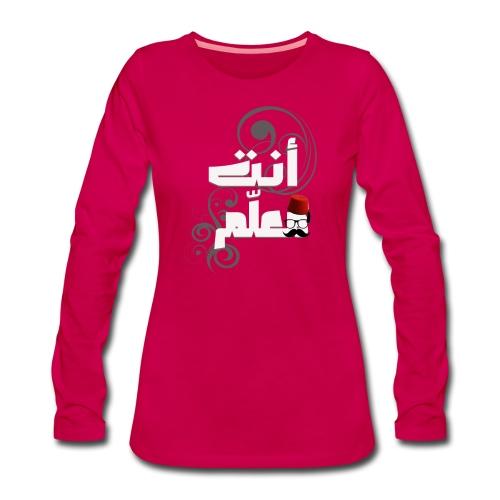 LE PATRON - T-shirt manches longues Premium Femme