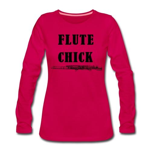Flute Chick - Women's Premium Longsleeve Shirt