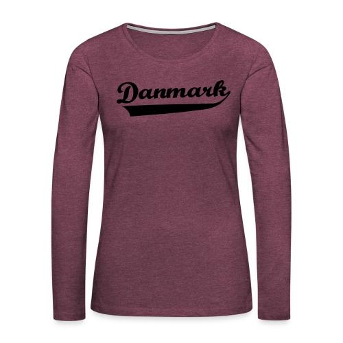Danmark Swish - Dame premium T-shirt med lange ærmer