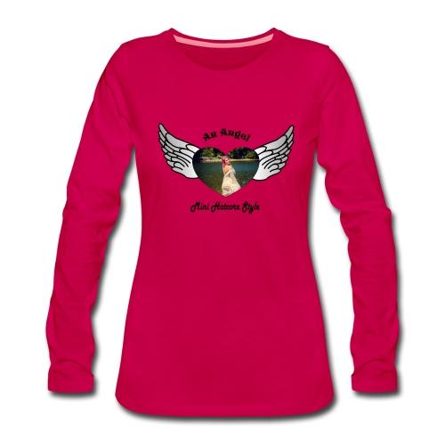 An Angel bunt - Frauen Premium Langarmshirt