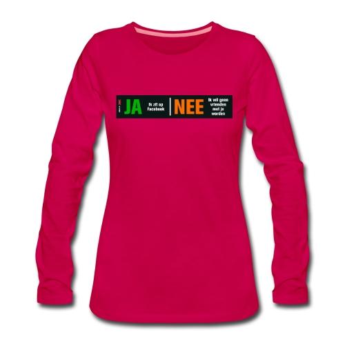 facebookvrienden - Vrouwen Premium shirt met lange mouwen