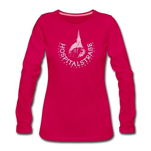 Frauen (einfarbig) - dunkle Textilien - Frauen Premium Langarmshirt