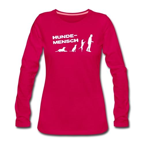 Recycling Stoffbeutel - Hundemensch - Frauen Premium Langarmshirt
