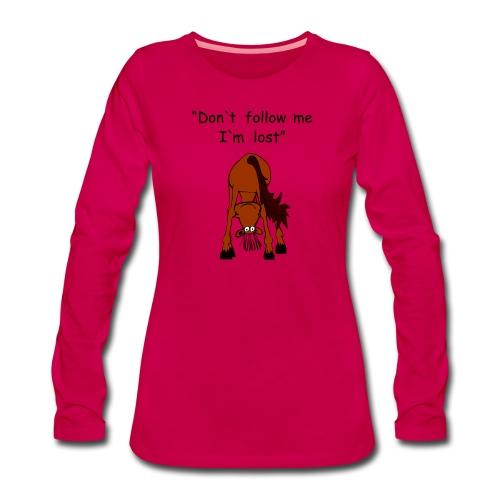 lost - Frauen Premium Langarmshirt