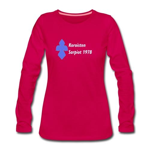 Koroisten Sarpiot - Naisten premium pitkähihainen t-paita