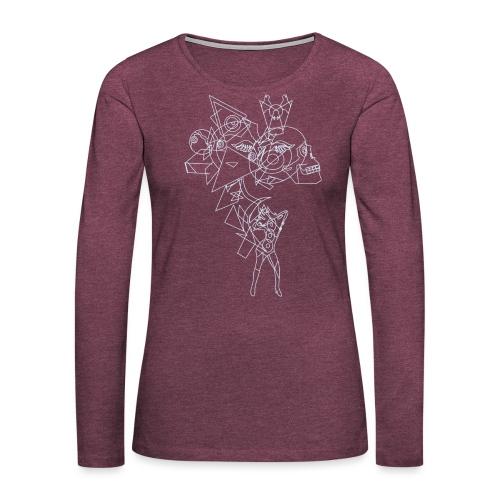 Vibrant light - Vrouwen Premium shirt met lange mouwen