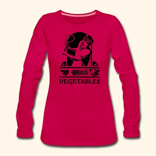tennis vegetable - T-shirt manches longues Premium Femme