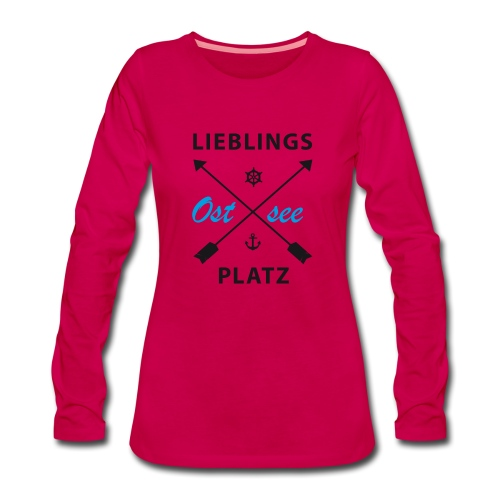 Lieblingsplatz Ostsee - Frauen Premium Langarmshirt