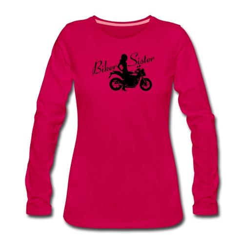 Biker Sister - Naked bike - Naisten premium pitkähihainen t-paita