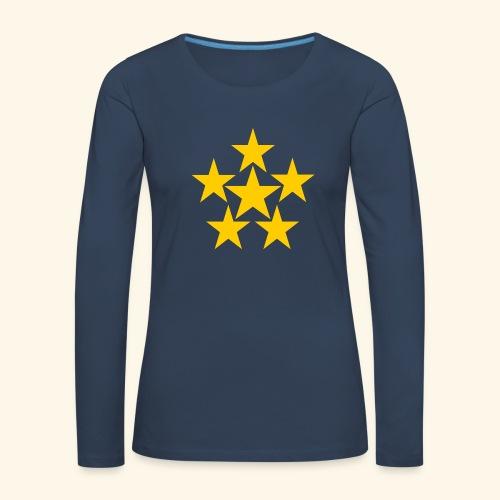 5 STERN gelb - Frauen Premium Langarmshirt