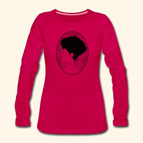 afro-mandala - Maglietta Premium a manica lunga da donna