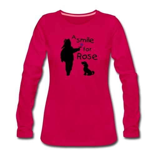 A Smile for Rose - Maglietta Premium a manica lunga da donna