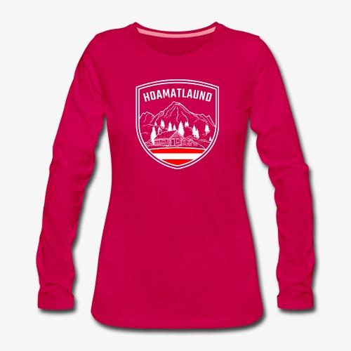 Hoamatlaund logo - Frauen Premium Langarmshirt