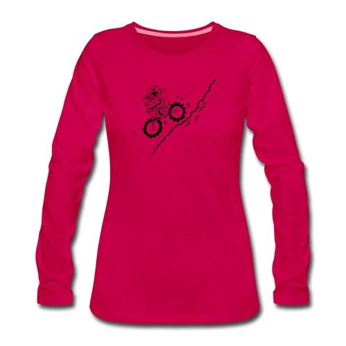 DOWNHILL! - Frauen Premium Langarmshirt