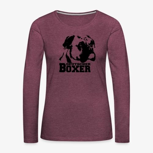Deutscher Boxer - Frauen Premium Langarmshirt