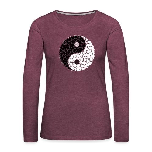 Yin/yang - Frauen Premium Langarmshirt