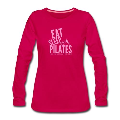 eat sleep pilates 2019 pink - Women's Premium Longsleeve Shirt