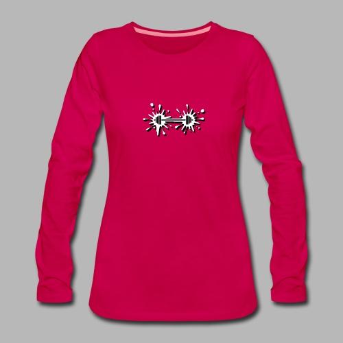 Hantel Splash - Frauen Premium Langarmshirt